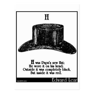 H war der neue Hut des Papas Postkarte