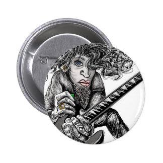 Haar-Gitarre Runder Button 5,1 Cm