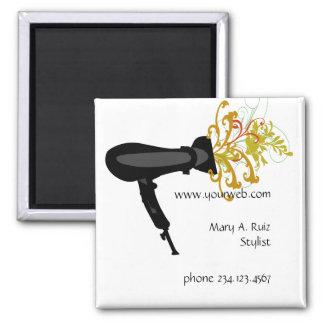 Haar-Stylist-Blumen-Blüten-Salon-Namen-Umbau Quadratischer Magnet