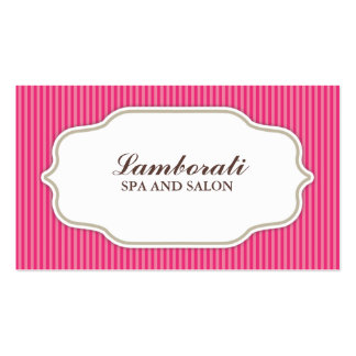 Haar-Stylist-Friseur-Salon-Rosa elegantes Retro Visitenkarten