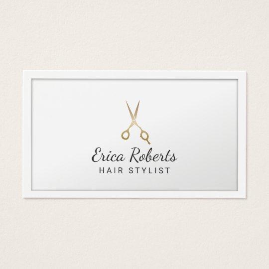 Haar-Stylist-Gold Scissor minimalen Visitenkarte