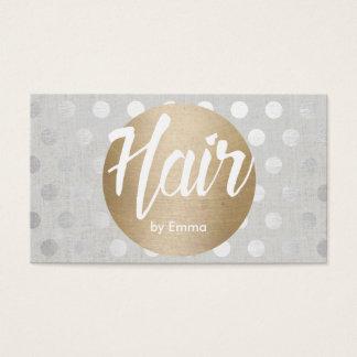 Haar-Stylist-Goldkreis-Silber punktiert modernes Visitenkarten