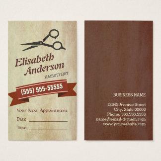 Haar-Stylist - kreative Retro Verabredungs-Karte Visitenkarten