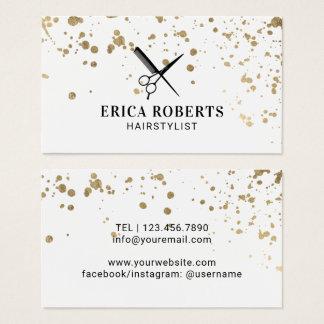 Haar-Stylist-moderner GoldSpritzer-Friseur Visitenkarte