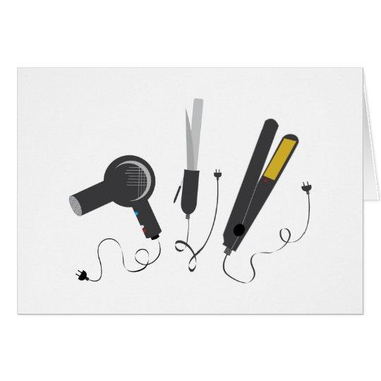 Haar-Stylist-Werkzeuge Grußkarte