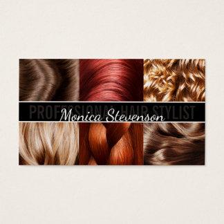 Haarschnitt-Stylist-Friseur-Trendy Geschäfts-Karte Visitenkarte
