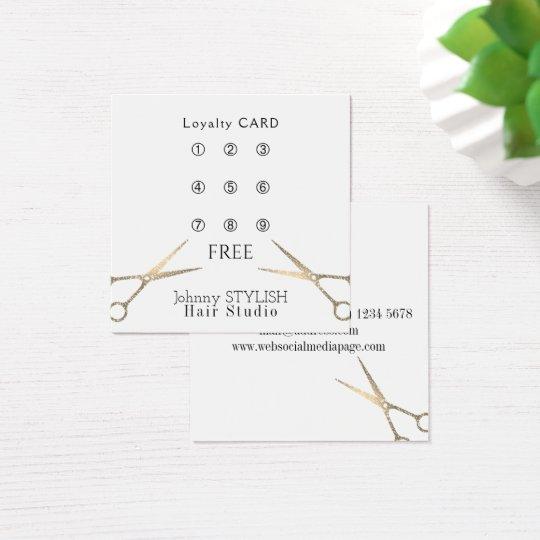 Haarstudio-Loyalitätskarte Quadratische Visitenkarte
