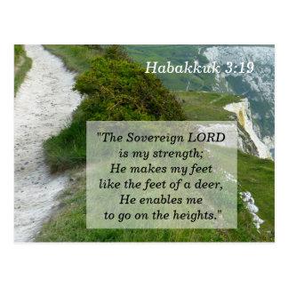 Habakkuk 3 19 Schrifts-codierte Karte