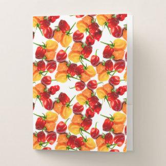 Habanero-Paprika-rote Paprikaschoten-orange heiße Mappe