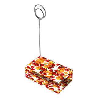 Habanero-Paprika-rote Paprikaschoten-orange heiße Tischnummernhalter
