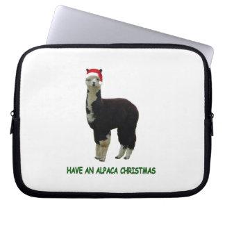 Haben Sie ein Alpaka Weihnachten Laptop Sleeve