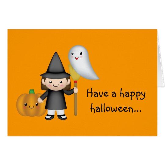 Haben Sie ein glückliches Halloween Grußkarte