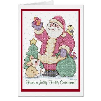 Haben Sie ein lustiges, Stechpalmen-Weihnachten! Karte