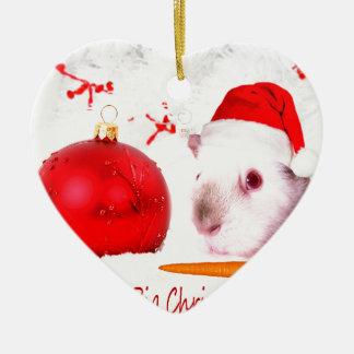 Haben Sie ein Meerschweinchen-Weihnachten Keramik Ornament