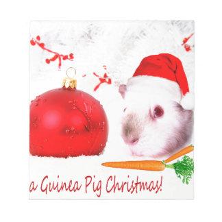 Haben Sie ein Meerschweinchen-Weihnachten Notizblock