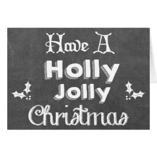 Haben Sie ein Stechpalmen-lustiges Weihnachten Karte