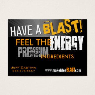 haben Sie eine Explosionsfahne, ENERGIE, GLAUBEN Visitenkarte
