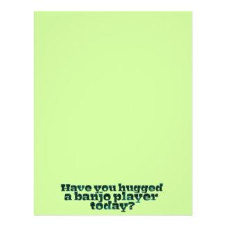 Haben Sie einen Banjo-Spieler heute umarmt? Flyerdruck