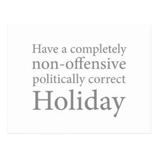 Haben Sie einen politisch korrekten Feiertag Postkarte