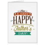 Haben Sie einen sehr glücklichen Vatertag Karte