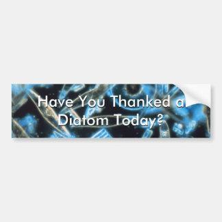 Haben Sie einer Diatomee gedankt? Autoaufkleber
