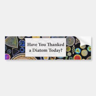 Haben Sie gedankt einem Diatomee-Hintergrund Autoaufkleber