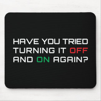 Haben Sie versucht, es mit Unterbrechungen zu dreh Mousepad