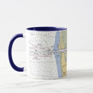 HAFEN-Diagramm-Tasse Cameron Louisiana See Tasse