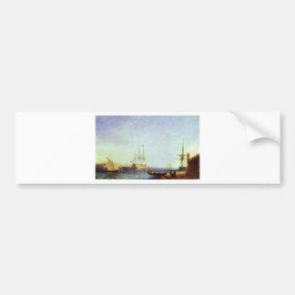 Hafen Maltas Valetto durch Iwan Aivazovsky Autoaufkleber