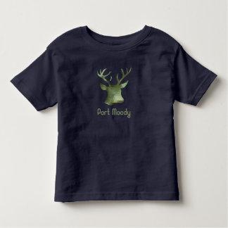 Hafen-schwermütige Tarnungs-Rotwild Kleinkind T-shirt