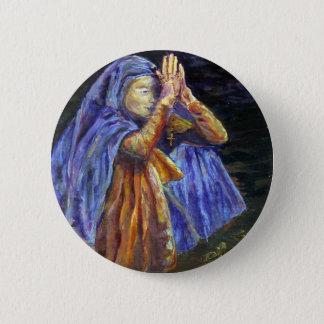 Hagel-Mary-Rosenbeetmalerei Kunst Runder Button 5,7 Cm