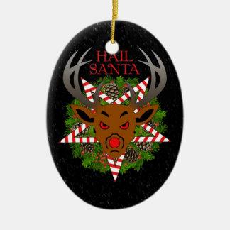 Hagel Sankt Ovales Keramik Ornament