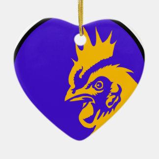 Hahn-Bild-Mode Keramik Herz-Ornament