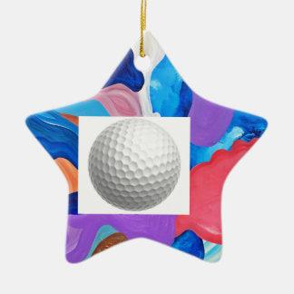 Hahn-Golfball Keramik Stern-Ornament