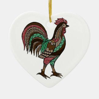 Hahn Keramik Herz-Ornament