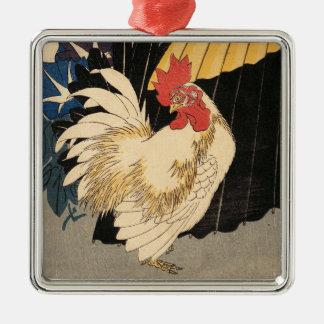 """""""Hahn-, Regenschirm-und Winden-"""" Verzierung Silbernes Ornament"""