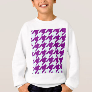 Hahnentrittmuster 2 lila sweatshirt