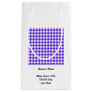 Hahnentrittmusterblau (i) kleine geschenktüte