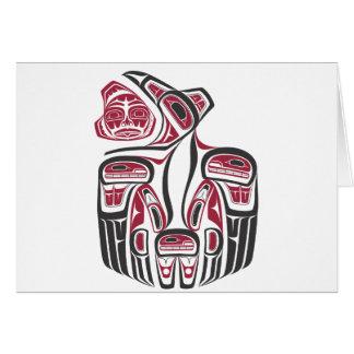 Haida-Raben-Entwurf Karte
