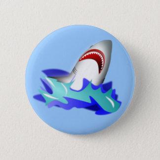 Haifisch-Aufstieg Runder Button 5,7 Cm