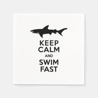Haifisch - behalten Sie Ruhe und schwimmen Sie Papierservietten