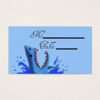 Haifisch-Biss, der Placecards Wedding ist Visitenkarten