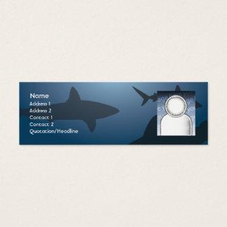 Haifisch - dünn mini visitenkarte
