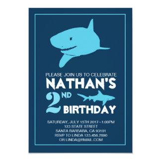 Haifisch-Geburtstags-Einladung für Jungen Karte