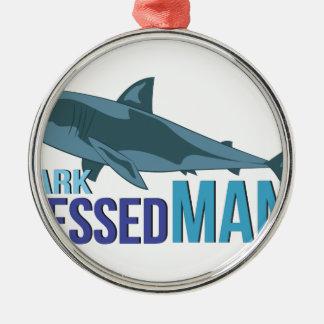 Haifisch gekleideter Mann Silbernes Ornament