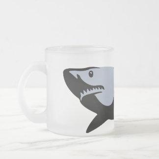 Haifisch Matte Glastasse