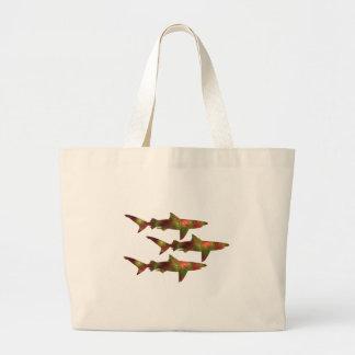 Haifisch-Raserei Jumbo Stoffbeutel