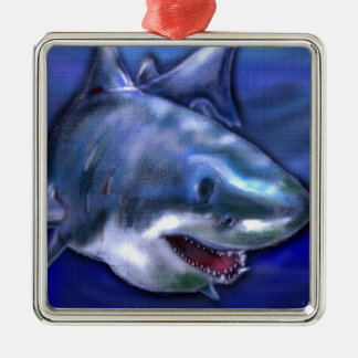 Haifisch Silbernes Ornament