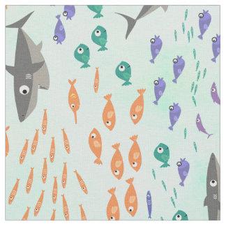 Haifisch-Spaß Stoff