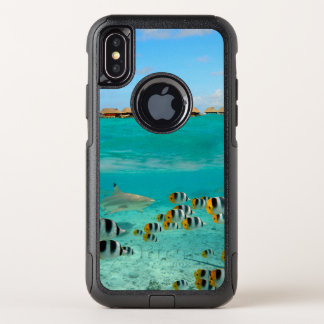 Haifisch wasserdichter iPhone X Unterwasserfall OtterBox Commuter iPhone X Hülle